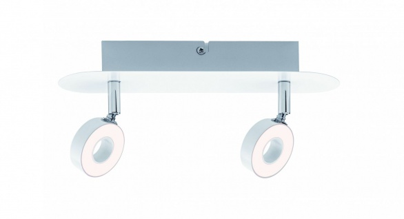 Paulmann Spotlight Cycle LED 2x4, 3W Weiß/Chrom 230V Metall