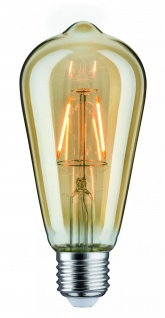Paulmann LED Rustika (ST64) 2, 5W E27 230V Gold 1700K