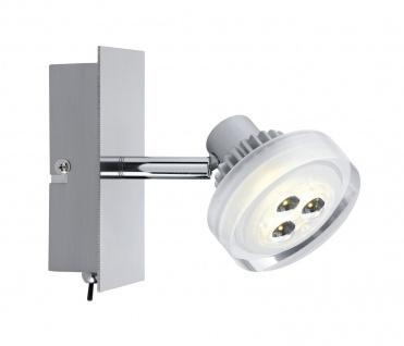 Paulmann 601.95 Spotlight Gloria LED Balken 1x5W Nickel gebürstet 230/12V Metall/Glas
