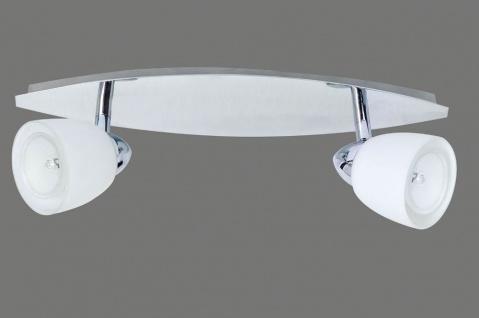 662.29 Paulmann Deckenleuchten Spotlights Regine Balken 2x50W GZ10 Chrom/Glas 230V Alu/Glas