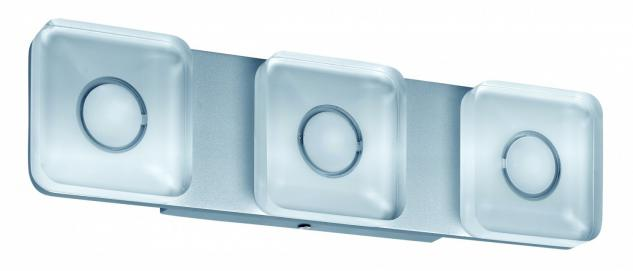 WallCeiling eckig Tucana IP44 LED 13, 5W Alu eloxiert/Klar 230V Metall/Acryl