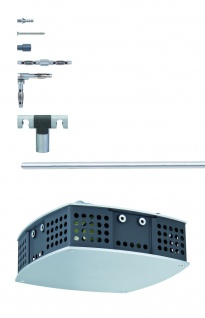 972.22 Paulmann 12V Rail Set Rail System L&E Spice Basissystem 300VA Chrom matt 230/12V 300W