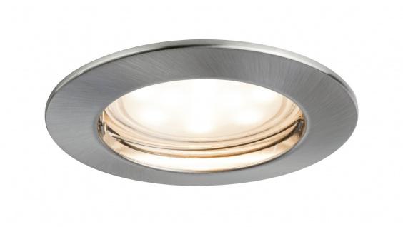 Premium EBL Set Coin sat rund starr LED 1x6, 8W 2700K 230V 51mm Eisen g/Alu Zink
