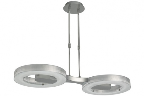 Paulmann Living Sato Pendelleuchte 2x40W T5 2GX13 Chrom/Transparent 230V Metall/Acryl+Glas