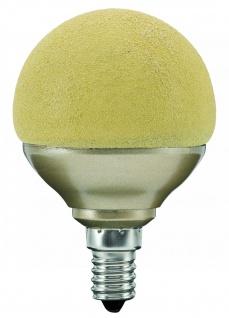 10 Stück 280.78 Paulmann E14 Fassung LED Miniglobe 60 1x2, 3W E14 Eiskristall Bernstein
