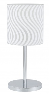 Paulmann 998.58 Living Carvu Tischleuchte 1x25W Energiesparlampe E27 Chrom/Opal/Satin 230V Metall/Glas - Vorschau 2