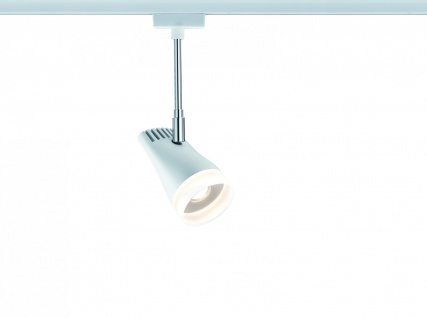 URail Systems LED Spot Drive 1x5, 4W Weiß/Chrom 230V Metall/Kunststoff