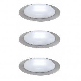 Nice Price 3630 Basic Einbauleuchte Set UpDown LED rund 3x0, 3W 230/12V 45mm Satin/Kunststoff