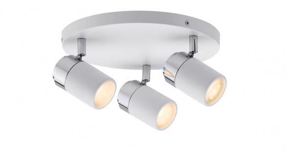 Paulmann 603.36 Spotlight Zyli IP44 Rondell 3x3, 5W GU10 Weiß/Chrom 230V Metall