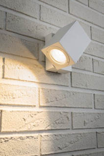 Paulmann Special Aufbauleuchte Set IP44 360° Cube Flame LED 1x7W 230V Weiß matt/Alu