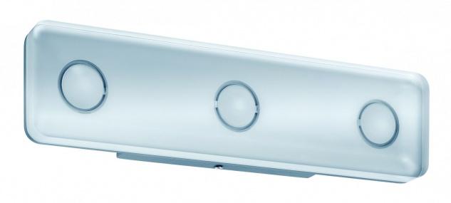 Paulmann WallCeiling eckig Theta IP44 LED 13, 5W Alu eloxiert/Klar 230V Metall/Acryl