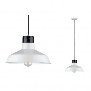 Paulmann 796.07 Neordic Disa Pendelleuchte max.1x20W E27 Weiß matt/Schwarz 230V Metall/Marmor