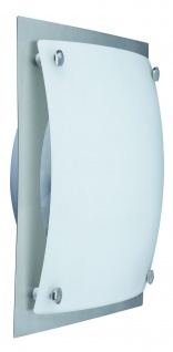 Paulmann 700.17 WallCeiling Buttino 20W E27 300x300mm Eisen gebürstet/Weiß-satiniert 230V Metall/Glas