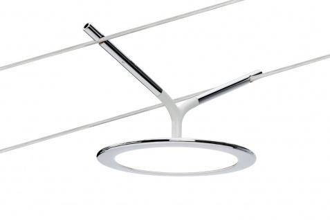 Paulmann 952.20 OLED Wire DC Spot Plate 1, 7W Chrom/ Weiß matt 12V DC Metall/Kunststoff