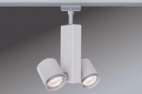 Paulmann URail Schienensystems Spot TecLED II 2x6, 5W Chrom matt/Weiß 230V Metall