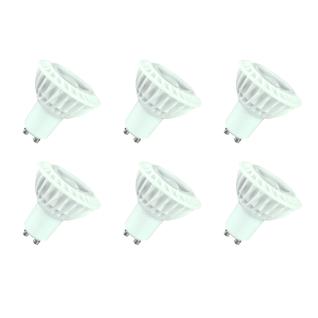 MILI 6er Set LED Leuchtmittel 3W GU10 4000K Neutralweiss 45° Linse 230V 240lm Klar