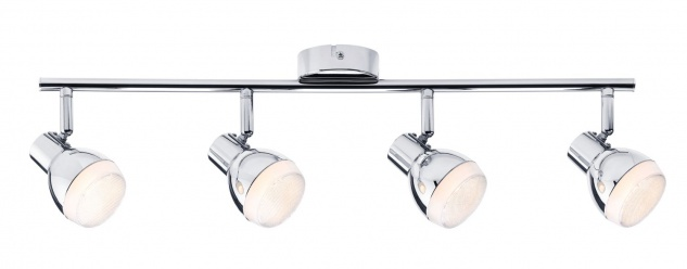 Paulmann 603.67 Spotlight Gloss LED 4x4, 6W Chrom 230V Kunststoff