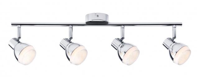Paulmann Spotlight Gloss LED 4x4, 6W Chrom 230V Kunststoff