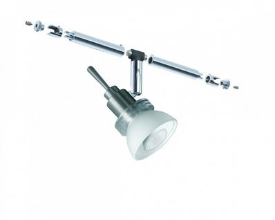 Paulmann Seil- und Schienensystem CombiEasy Spot Verbier 1x35W GU4 Chrom matt/Opal 12V Metall/Glas