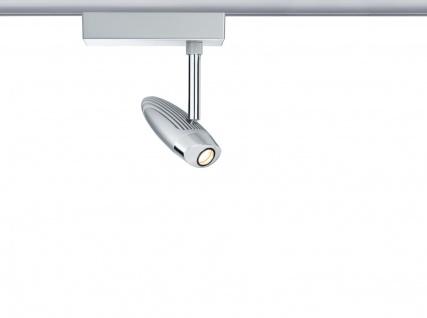 URail System LED Spot Flood 1x10W Chrom matt/Chrom 230V Metall
