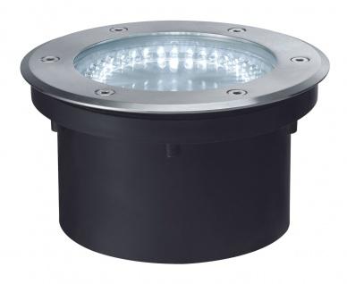 Paulmann 937.46 Special Einbauleuchte Set IP67 Boden rund LED 2, 1W 3, 6VA 230/12V 180mm Edelstahl/Metall
