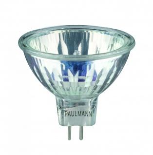 800.28 Paulmann 12V Fassung NV Halogenreflektorlampe Halo+ 28W 51mm GU5, 3 Silber