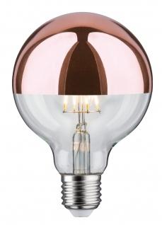 Paulmann LED Globe 95 7, 5W E27 230V Kopfspiegel Kupfer 2700K