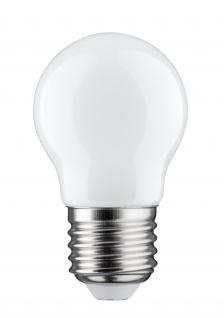 Paulmann 284.81 LED Tropfen 4, 5W E27 Opal 2700K dimmbar