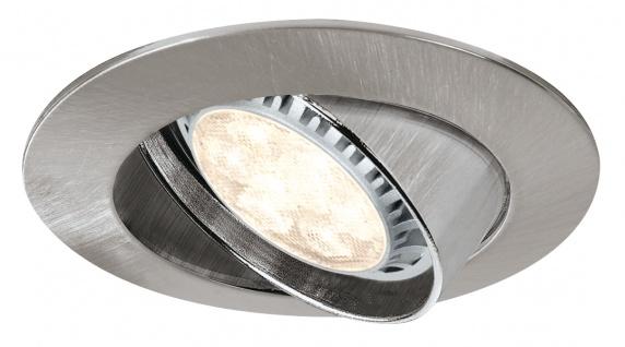 Paulmann 927.09 Premium Einbauleuchte Set schwenkbar dimb.LED 3x8W 230V GU10 51mm Eisen gebürstet/Metall