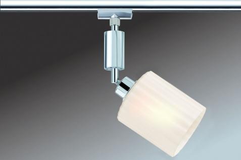 Paulmann 950.96 URail Schienensystem Spot Zyli 1x3W Chrom/Weiß 230V/12V Metall/Glas