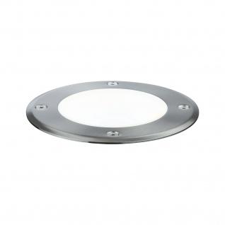 Paulmann Outd Plug & Shine Boden Einbauleuchte IP67 675lm 4000K 6W 24V 38° schwenkbar 20° Si Metall