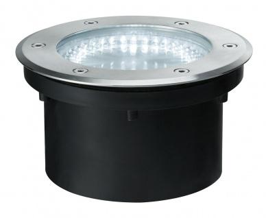 Paulmann Special Einbauleuchte Set IP67 Boden rund LED 2, 1W 3, 6VA 230/12V 180mm Edelstahl/Metall