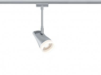 URail Systems LED Spot Drive 1x5, 4W Chrom matt/Chrom 230V Metall/Kunststoff