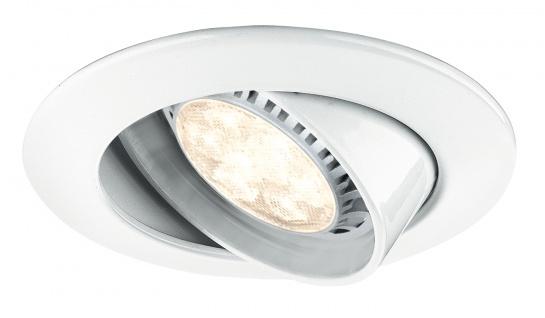 Paulmann Premium Einbauleuchte Set schwenkbar dimb. LED 3x8W 230V GU10 51mm Weiß/Metall