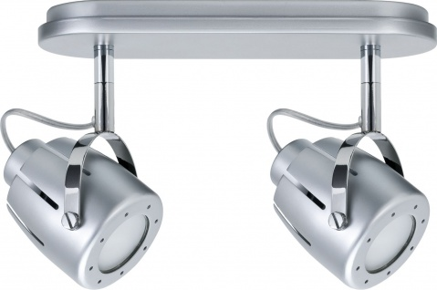 Paulmann 666.15 Spotlights Mega Balken 2x11W GU10 Chrom matt 230V Metall