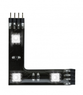 Function YourLED 90°-Connector 3x0, 72W Set RGB 12V DC Schwarz Kunststoff