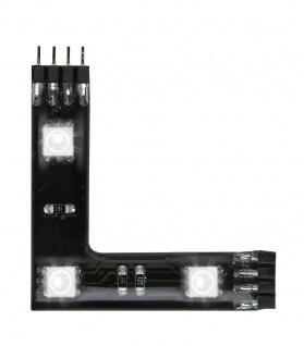 Paulmann 702.07 Function YourLED 90°-Connector 3x0, 72W Set RGB 12V DC Schwarz Kunststoff