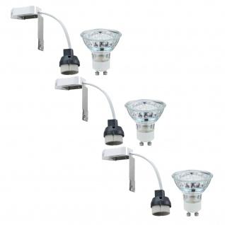 Paulmann 965.29 2Easy Einbauleuchte Basis-Set LED Warmweiß 3x1W 230V GU10 51mm