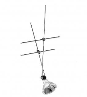 1883 Nice Price Seil Spot Seilsystem 12V 20W inkl. Leuchtmittel Chrom 20watt