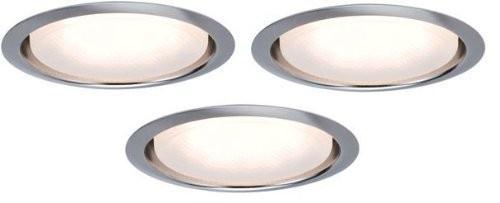 LED Einbauleuchten Set 3x7W GX53 3000K Warm Weiss eisen gebürstet hell 30mm superflach Einbautiefe Einbaustrahler