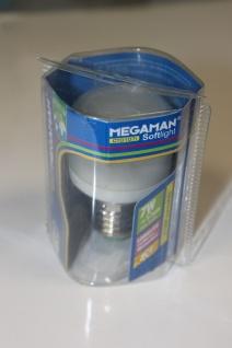 Megaman Energiesparlampe Sparlampe Softlight E27 7W flach 2700K - MM04012i
