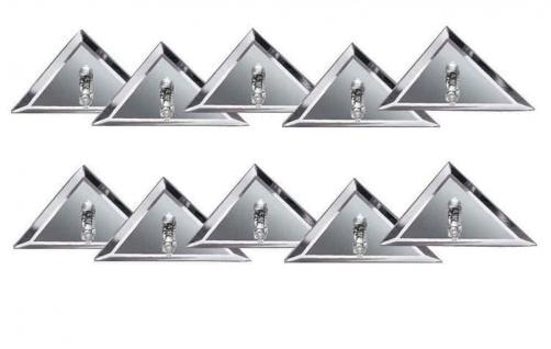 Paulmann Star Einbauleuchte Set dreieckig 10x10W 105VA 230/12V G4 96mm Spiegel Silber/Metall/Glas