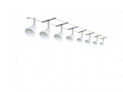 Paulmann Spice Chili Seilsystem 8x35W 12V 300W Deko-Trafo Seil Set Opal 15meter