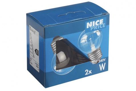 3826 Nice Price E27 Fassung NP Tropfen 2er Pack 2x40W E27 Klar