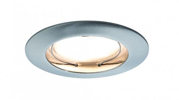 Paulmann Premium Einbauleuchte Set Coin dimmbar satiniert rund st LED 3x7W 2700K 230V 51mm Eisen gebürstet/Alu Zink