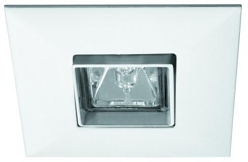 Paulmann Premium Einbauleuchte schwenkbar Quadro max.35W 12V GU5, 3 90mm Weiß/Alu Zink