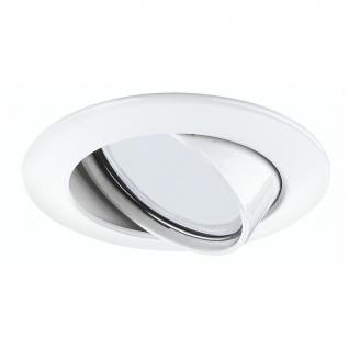 Paulmann 920.03 Premium Einbauleuchte Set Energiesparlampe schwenkbar 3x11W 230V GU10 51mm Weiß/Alu
