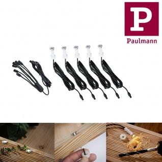 Paulmann 937.54 Special Boden Einbauleuchte Set MicroPen IP67 5x0, 16W 3000K 6VA 12mm Edelstahl