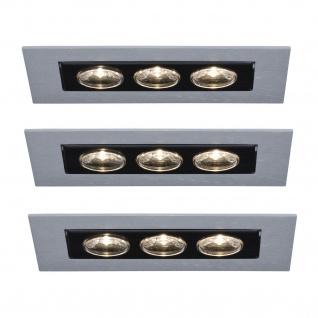 Paulmann Premium Einbauleuchte Set Cardano LED 3x(3x1W) 230V Chrom matt/Alu