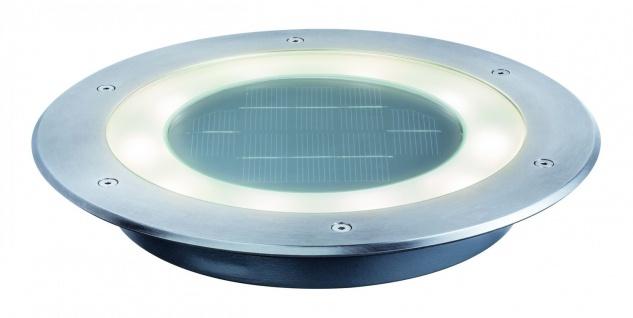 Paulmann 937.77 Special Einbauleuchte Set Solar Boden Jupiter IP67 LED 1x0, 6W 250mm Edelstahl/Klar/Glas